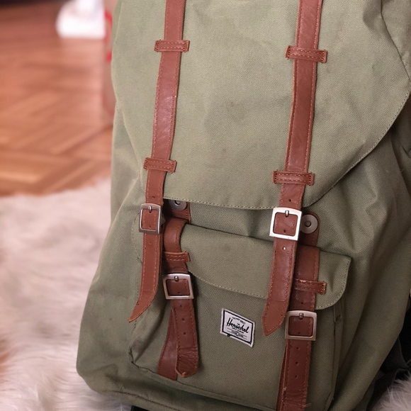 333e377a942e Herschel Supply Company Handbags - HERSCHEL Olive Green Little America  Backpack
